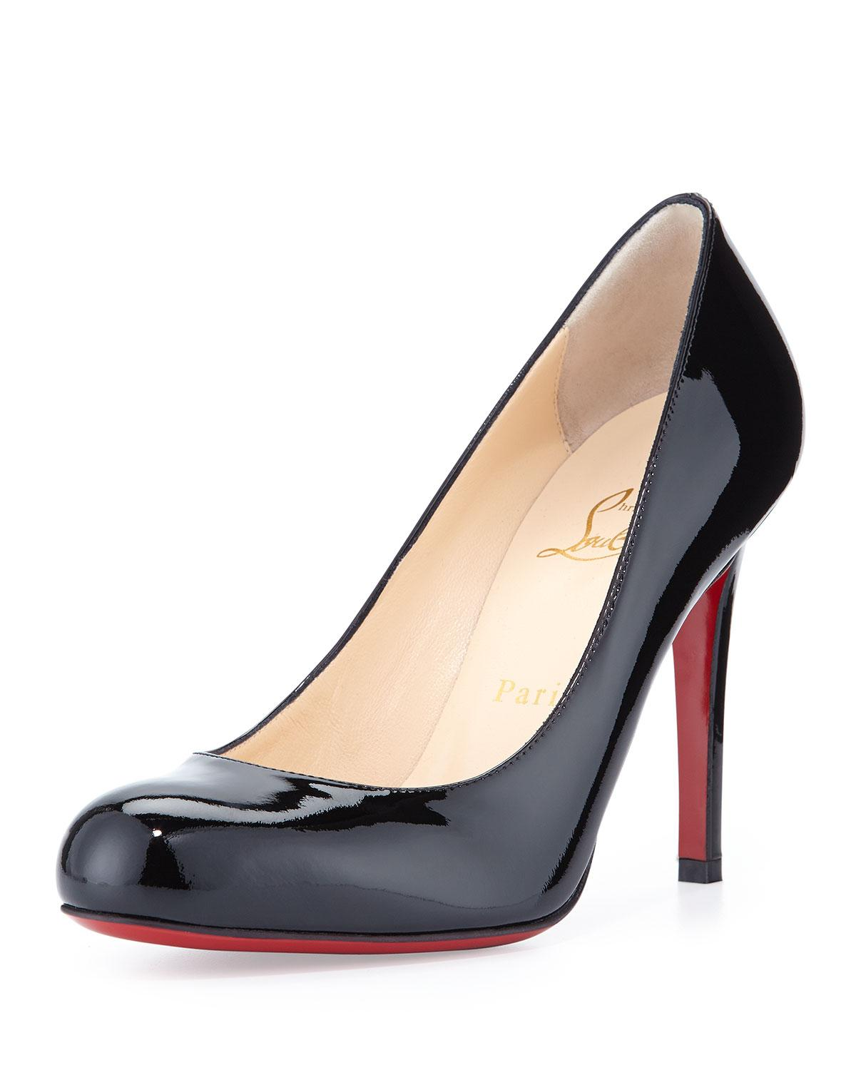 d9b4dd0be66e Lyst - Christian Louboutin Simple Patent Red Sole Pumps in Red - Save 3%