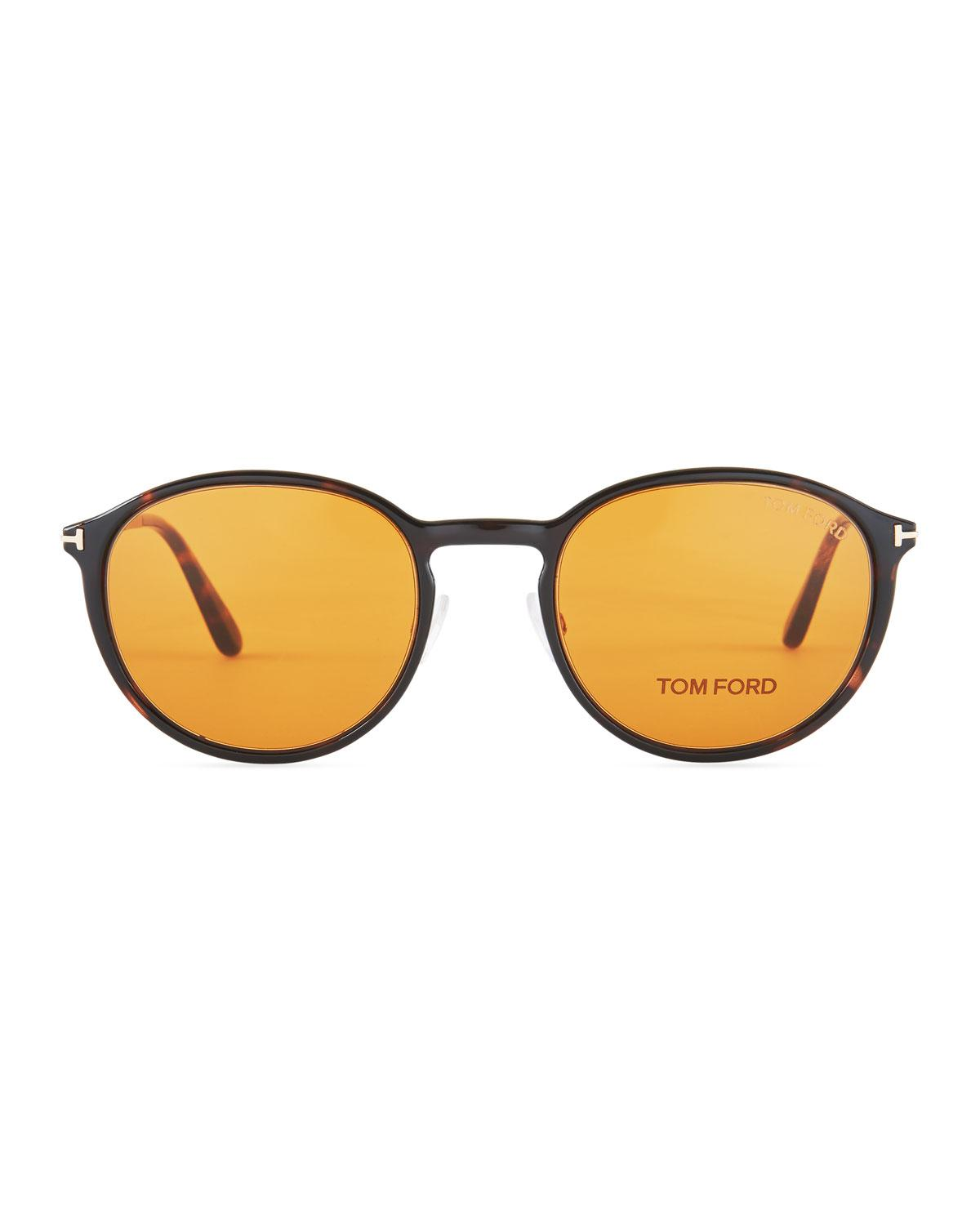 4eb24aace17 Lyst Tom Ford Round Optical Glasses W Magnetic