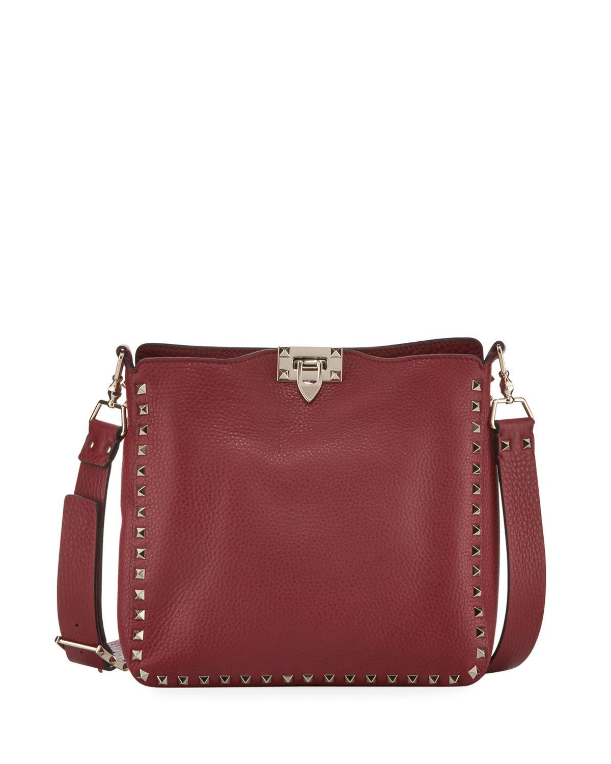 0b2467aab1 Lyst - Valentino Rockstud Small Hobo Bag in Blue