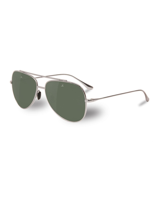 3dfa6b7f554 Lyst - Vuarnet Men s Swing Large Titanium Pilot aviator Sunglasses ...