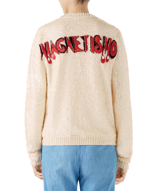 fec2cc4a0 Gucci + Disney Crystal-embellished Appliquéd Sequined Wool Sweater ...