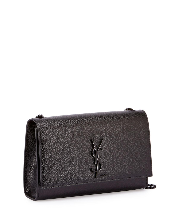 2ab0a60b7a7e Saint Laurent Monogram Kate Medium Chain Bag in Black - Lyst