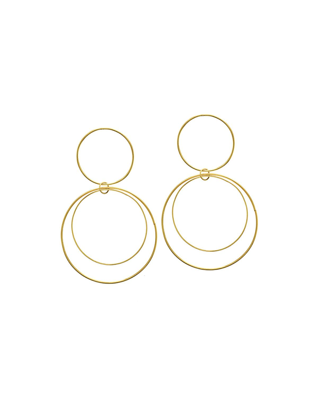 Lana Jewelry Two-Tiered 14K Gold Flat Circle Earrings 7xot6pXA
