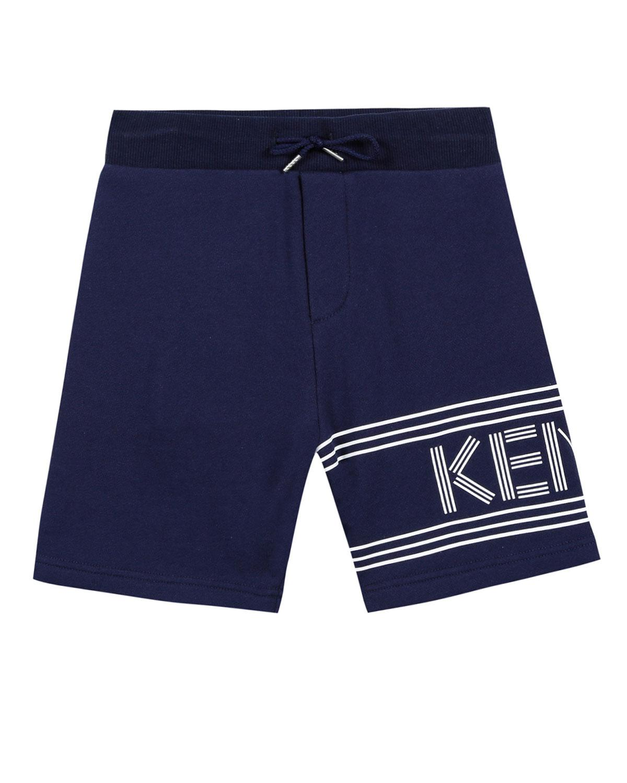 95079566 Lyst - Kenzo Fleece Logo Bermuda Shorts in Blue for Men