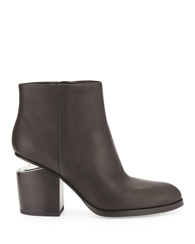 c4e267ed01f5 Lyst - Alexander Wang Gabi Tilt-heel Leather Boots in Black