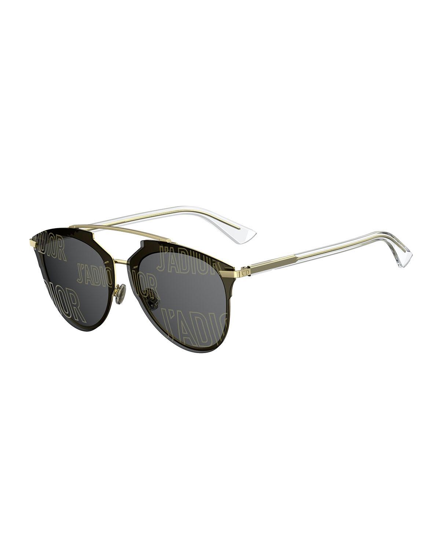 f4484de3faa1 Lyst - Dior Reflected Prism Aviator Sunglasses in Metallic