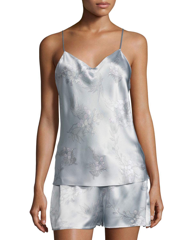 Lyst - Natori Wisteria Camisole Silk Pajama Set in Blue e91c00a42