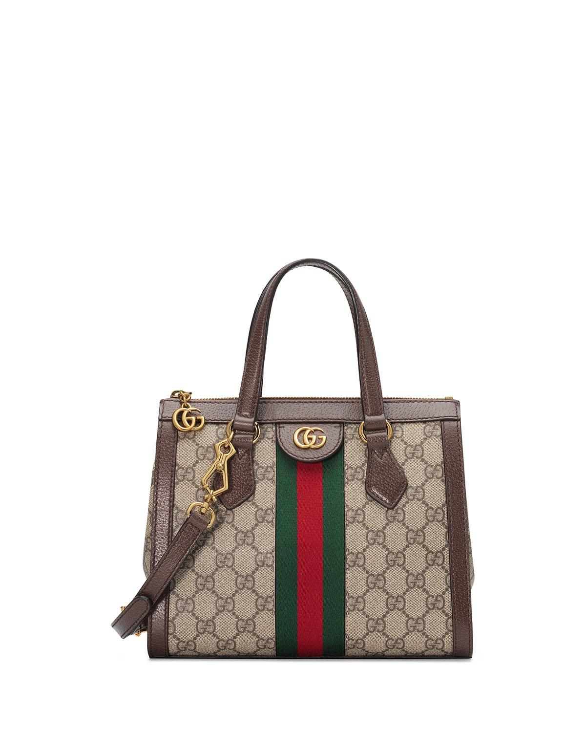 636717d54af Lyst - Gucci Ophidia Small GG Tote Bag in Natural - Save 17%