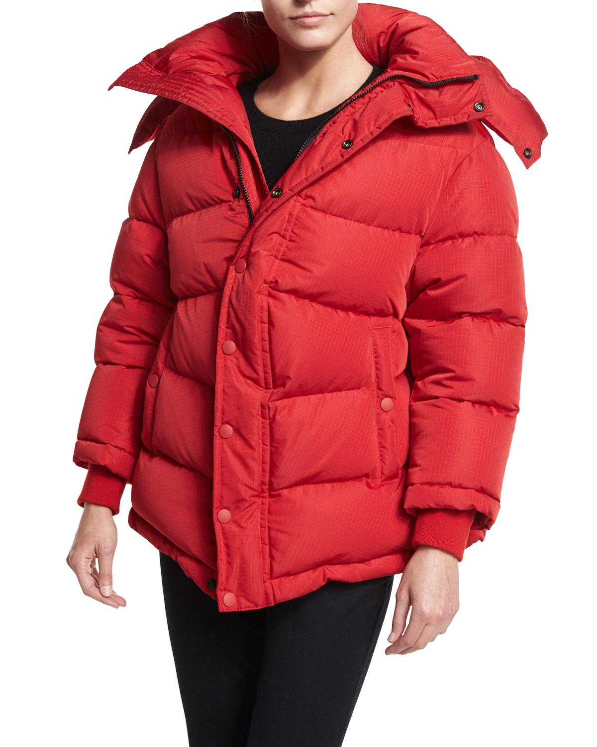 Lyst Balenciaga Quilted Puffer Coat In Red