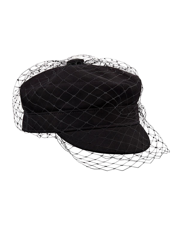 Lyst - Dior Arty Veil Cotton Cap in Black 73c7908e5a8