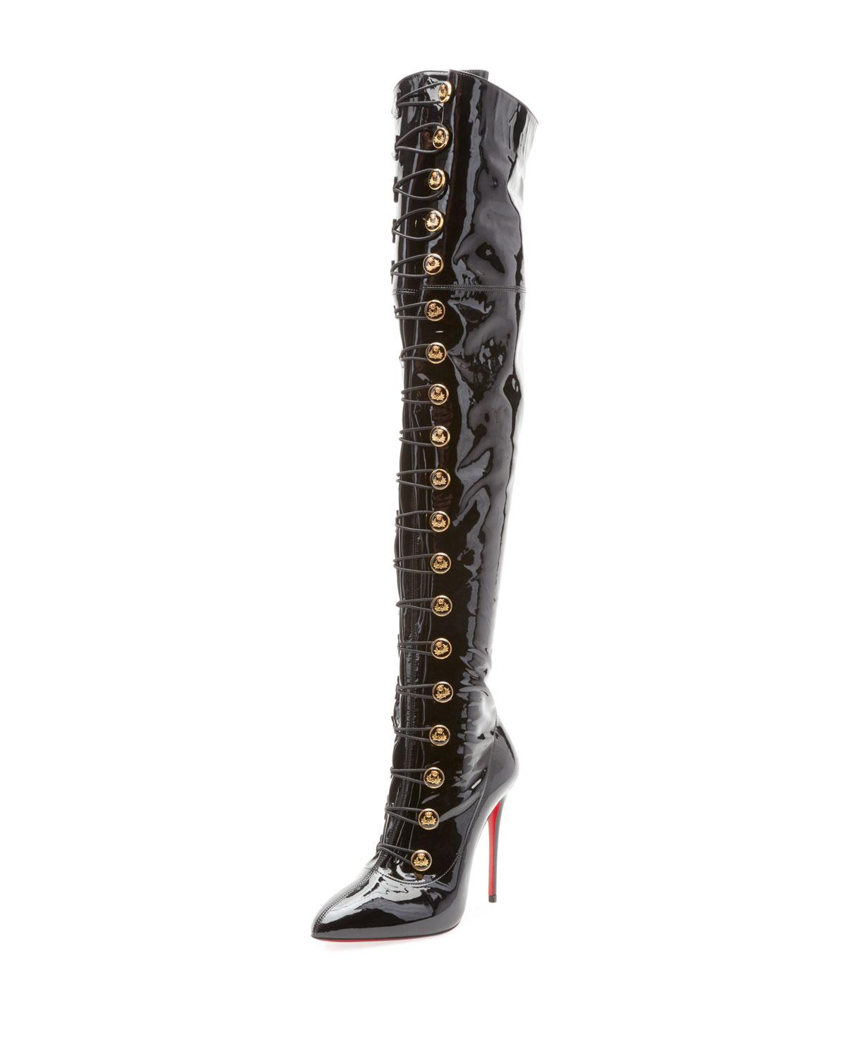 01d72ee8040 Lyst - Christian Louboutin Frenchissima Over-the-knee Patent Leather ...