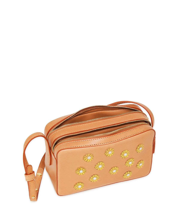 Lyst - Mansur Gavriel Floral-embellished Crossbody Bag f4dc805265e56
