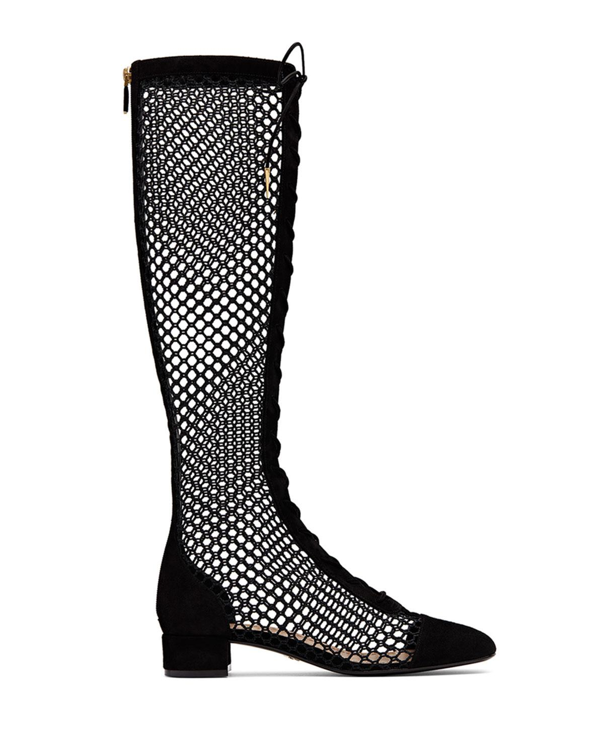 Womens Boots New Fashion Style Of 27605369 Dolce Gabbana 105mm Beth Mesh Lace Peep Toe