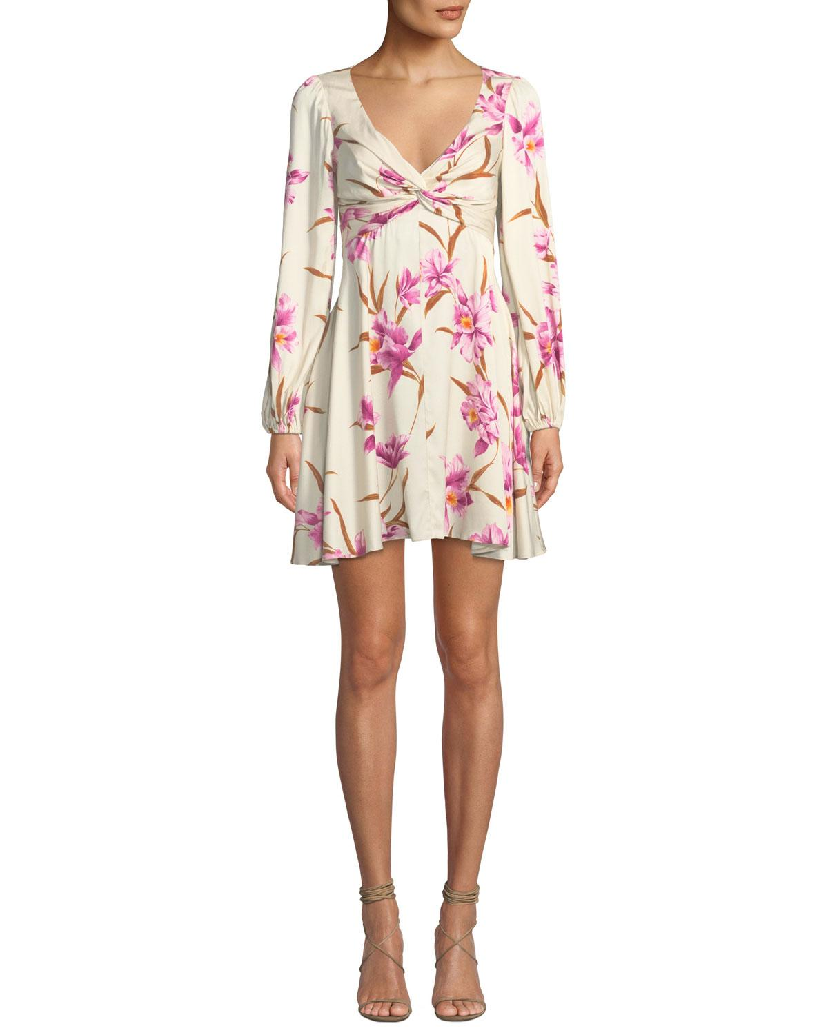 f722b8073ce Zimmermann. Women s White Corsage Knot-front Floral Short Cocktail Dress