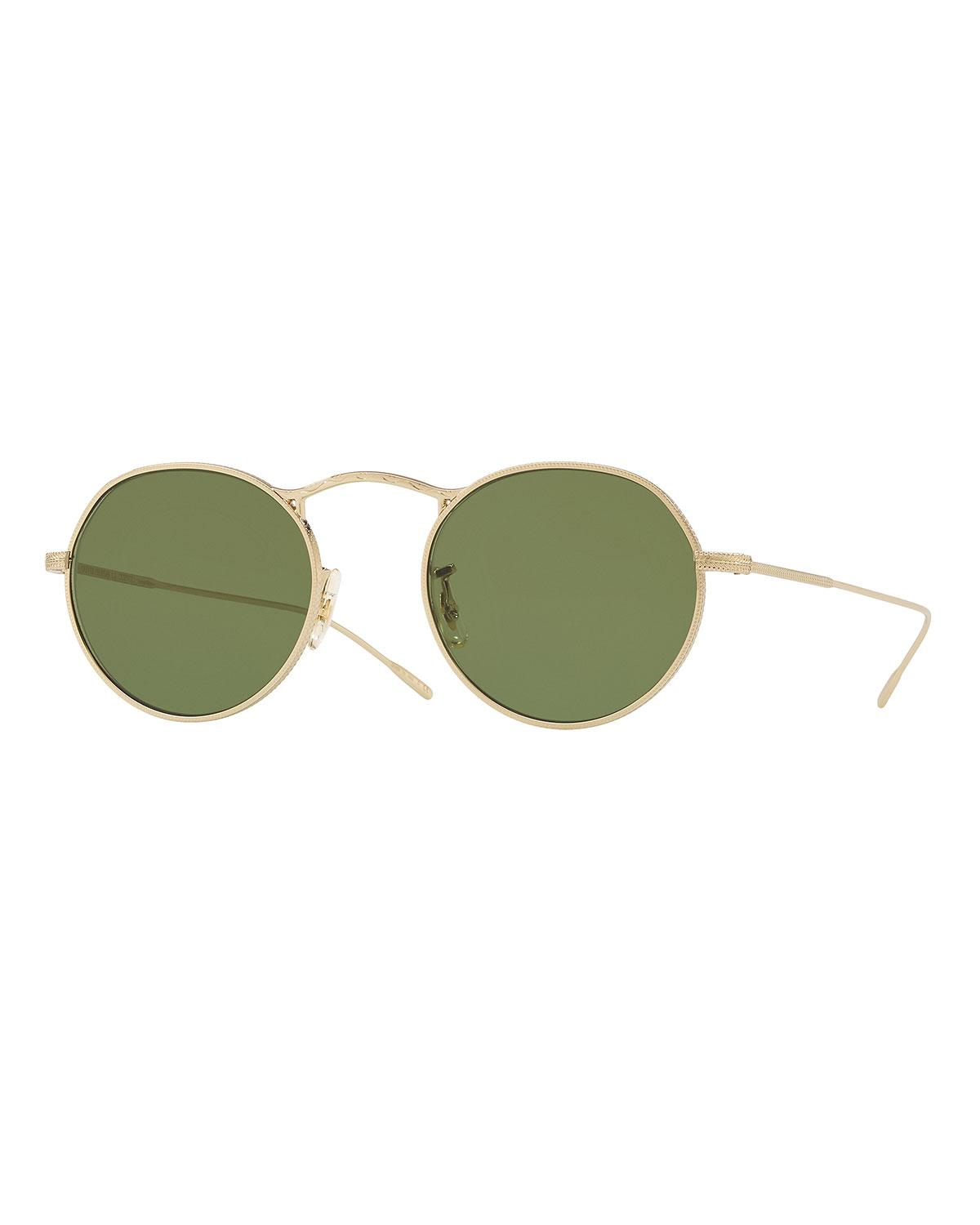 9f17ad96adb1 Lyst - Oliver Peoples M-4 30th Anniversary Round Sunglasses in Green