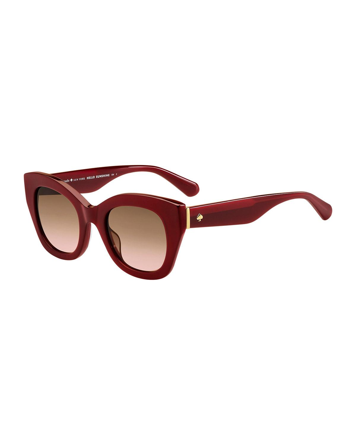 44822696ff Lyst - Kate Spade Acetate Cat-eye Sunglasses in Red