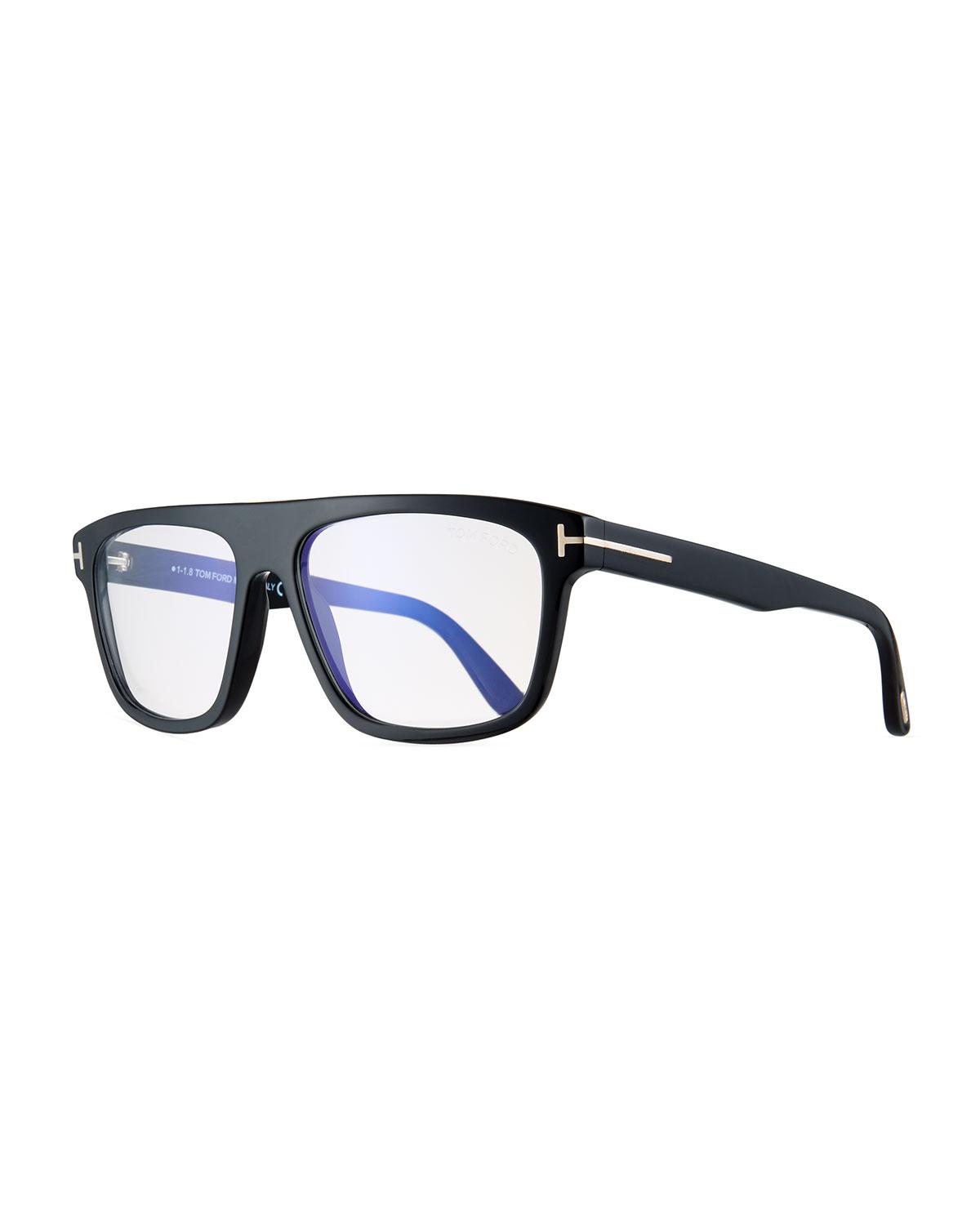 e9b42cbb90 Lyst - Tom Ford Men s Rectangular Acetate Eyeglasses in Black for Men