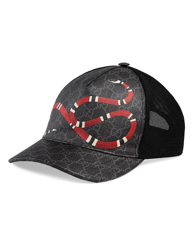 8566e0716f9 Lyst - Gucci Snake Baseball Cap in Black for Men - Save 32%
