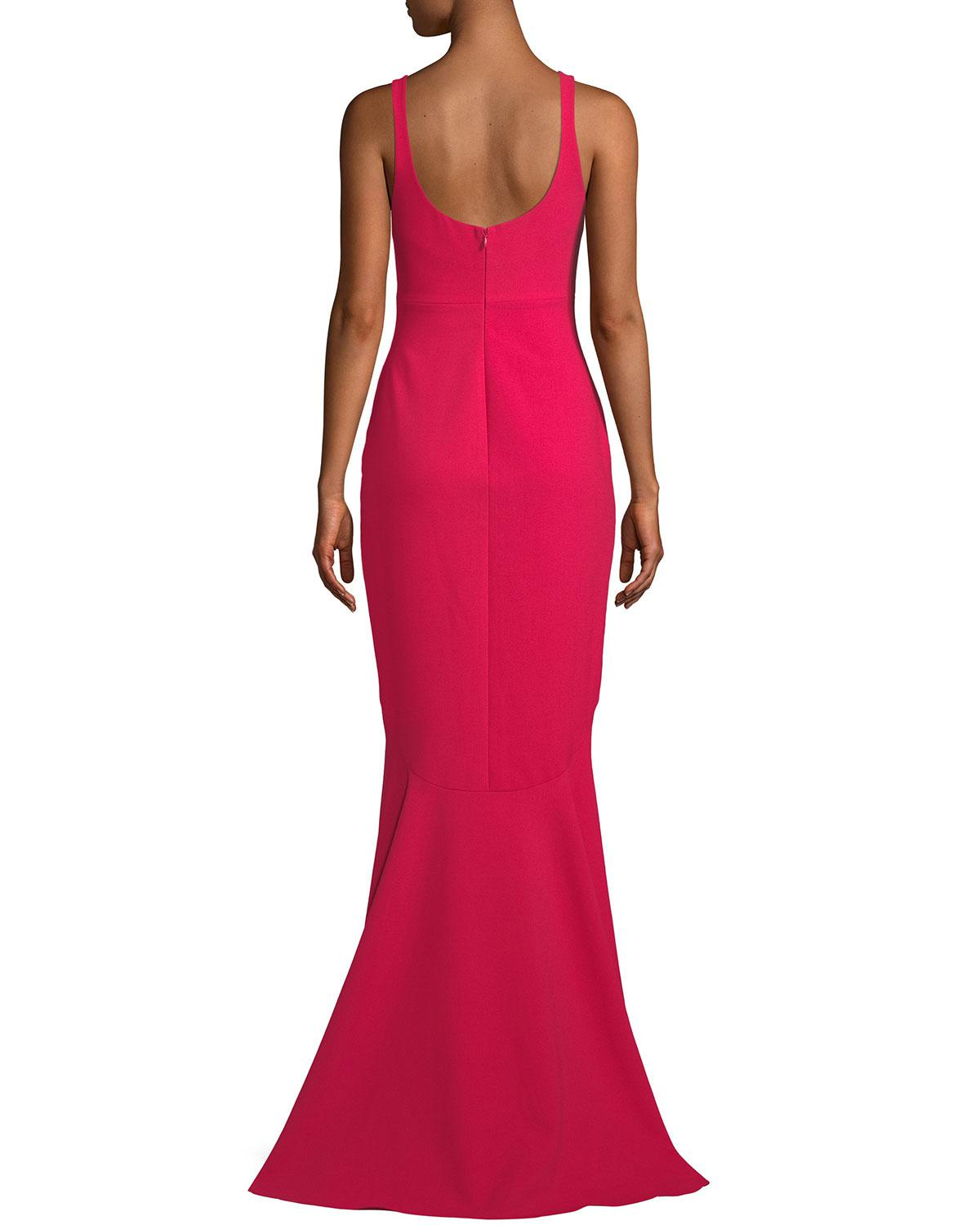 Lyst Cinq à Sept Sade Sleeveless Mermaid Gown In Red
