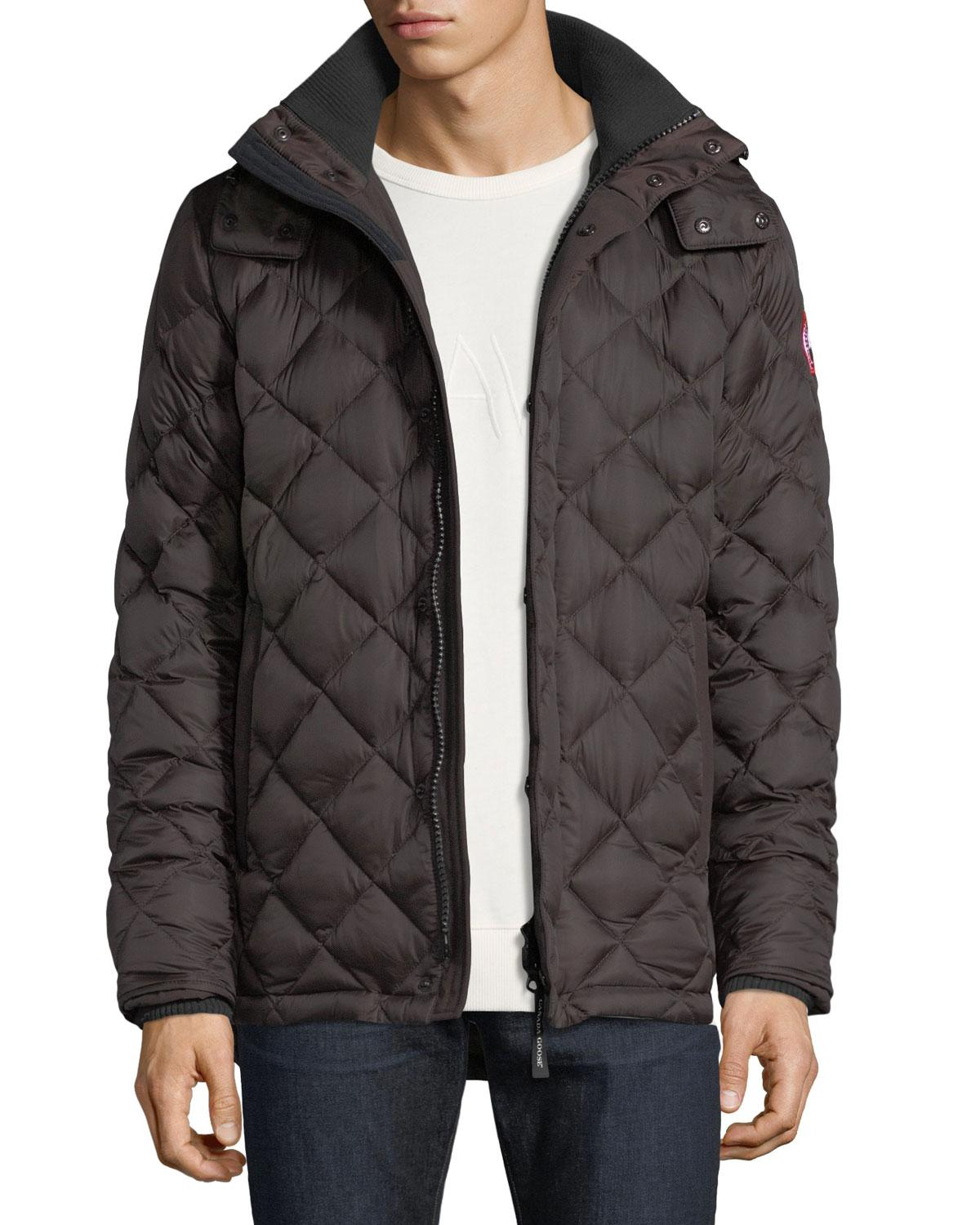 4ec5a834f80 Lyst - Canada Goose Hendriksen Diamond-quilted Coat in Black for Men