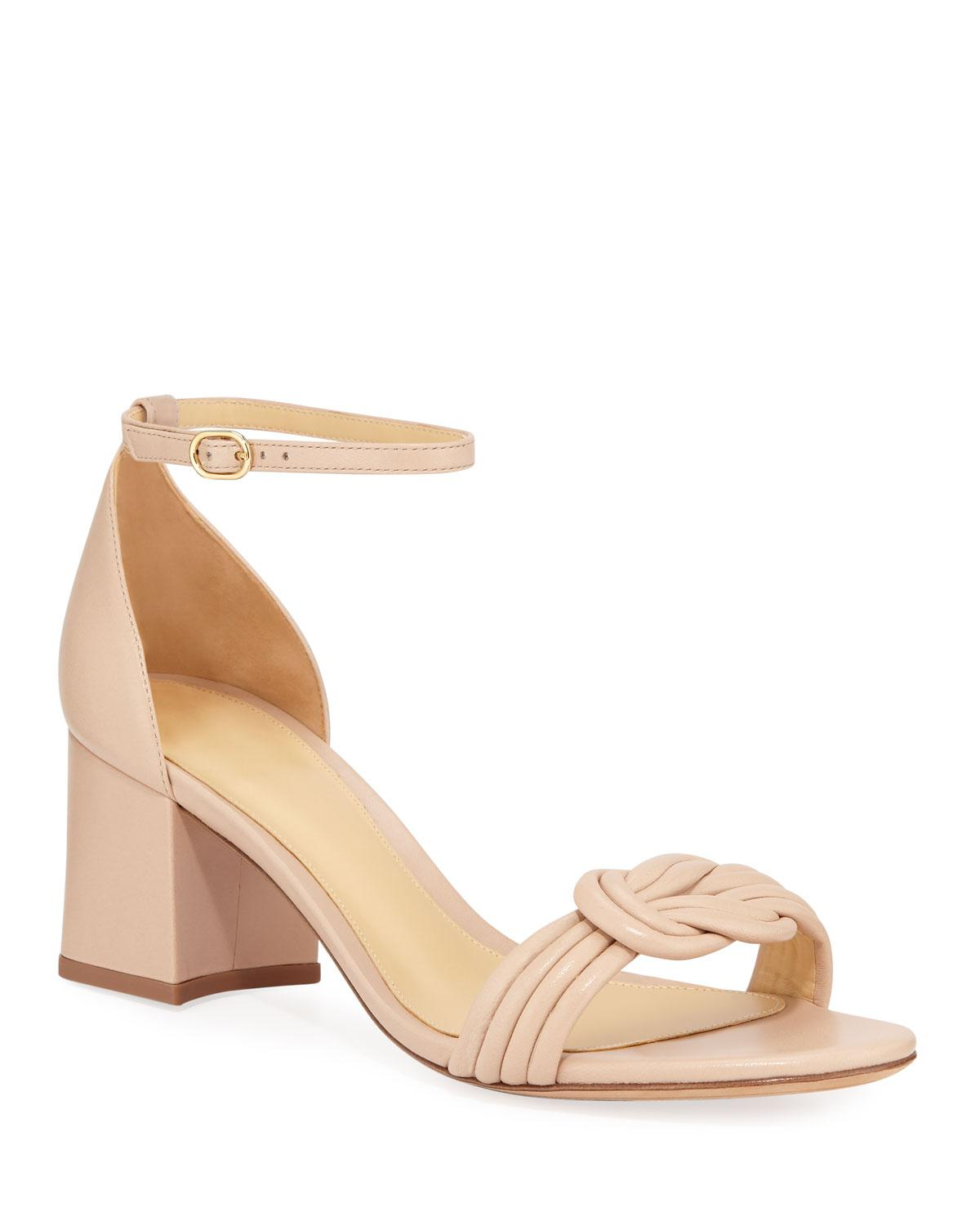 3496fca777 Alexandre Birman. Women's Natural Malica Knot Block-heel Leather Sandals