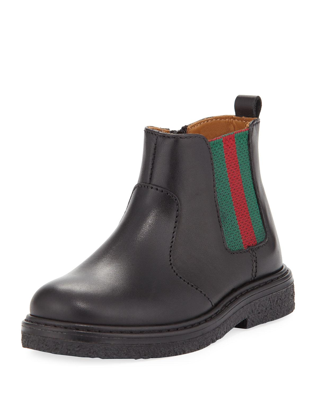 c25a1c09fda Lyst - Gucci Joshua Leather Chelsea Boot in Black for Men