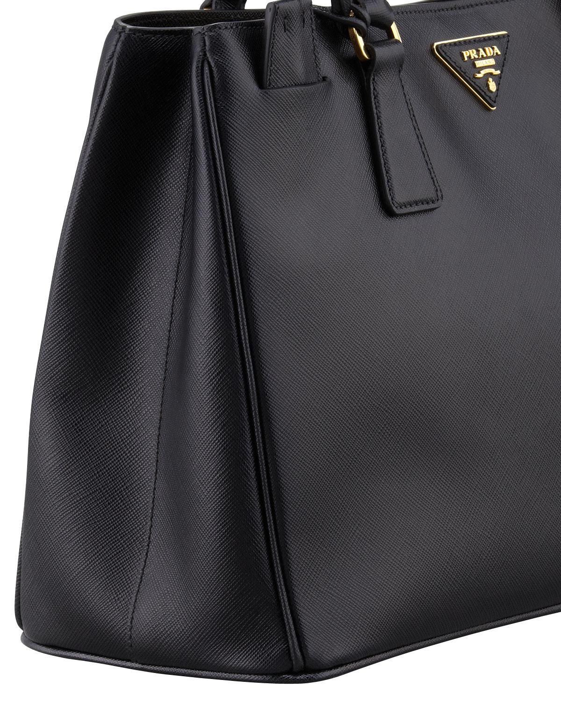 e1142eb71169 ... where to buy lyst prada saffiano gardeners tote bag in black 4170f f6c01