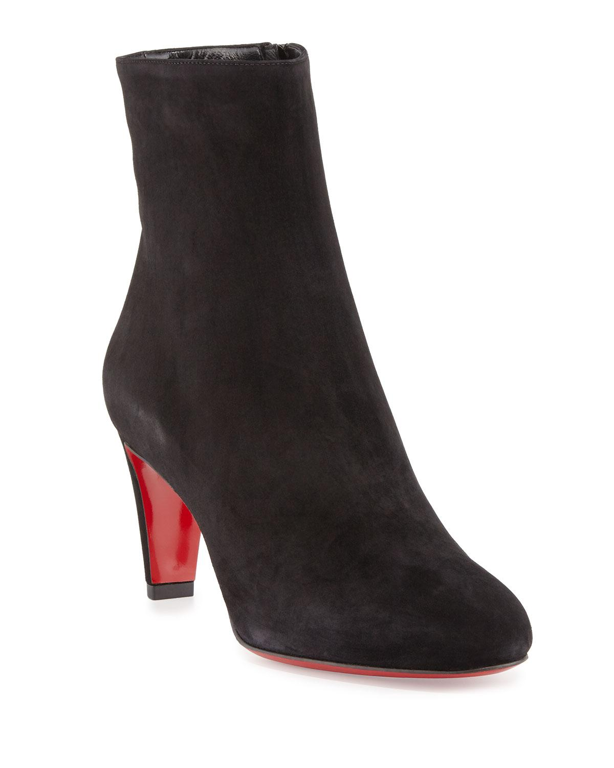 81ab0e84907f8 Lyst - Christian Louboutin Top Suede Ankle Boots in Black