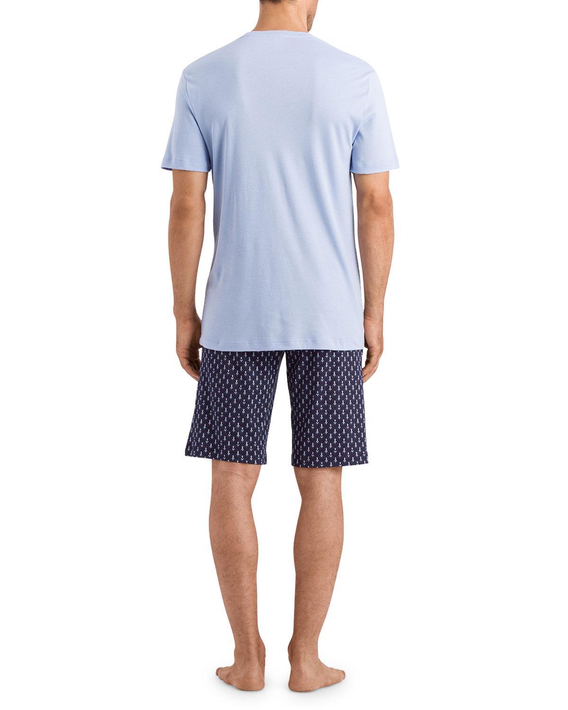 765b9e60dd Lyst - Hanro Men s Night Day Pattern Pj Set in Blue for Men