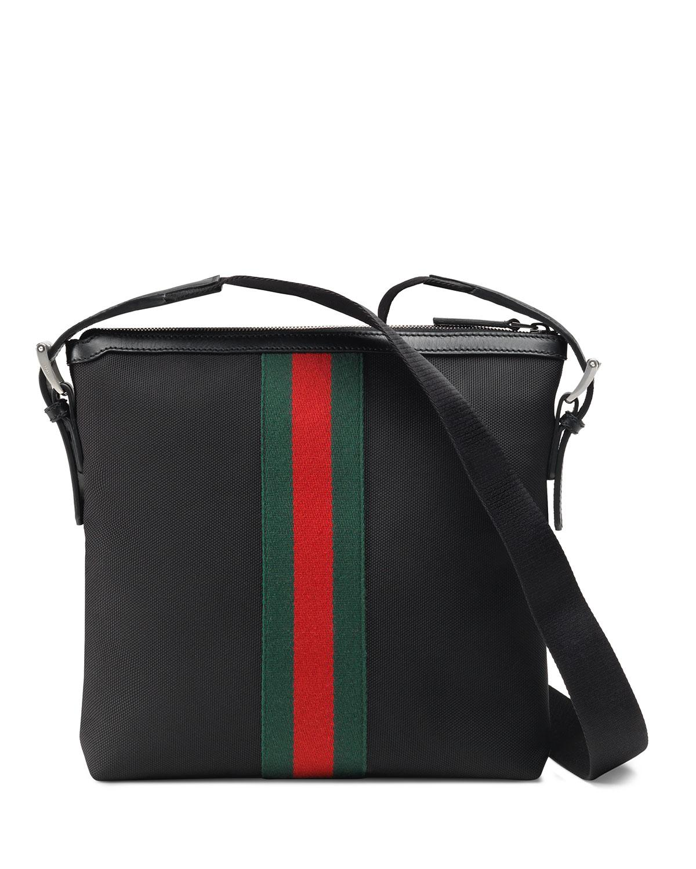 1e7c24e44 Gucci Men's Web Gg Supreme Messenger Bag in Black for Men - Lyst