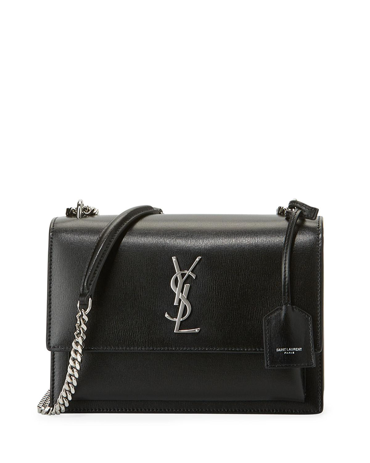 Saint Laurent - Black Sunset Medium Monogram Ysl Crossbody Bag - Lyst. View  fullscreen 493e41e0b47d8