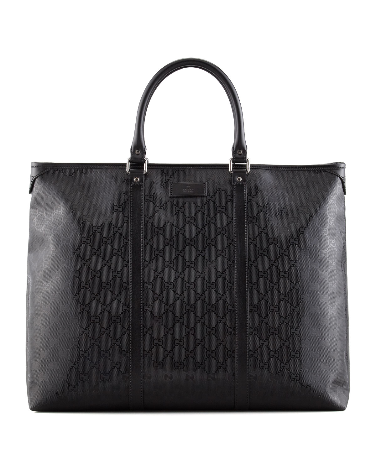 lyst gucci men 39 s imprime zip top tote bag in black. Black Bedroom Furniture Sets. Home Design Ideas
