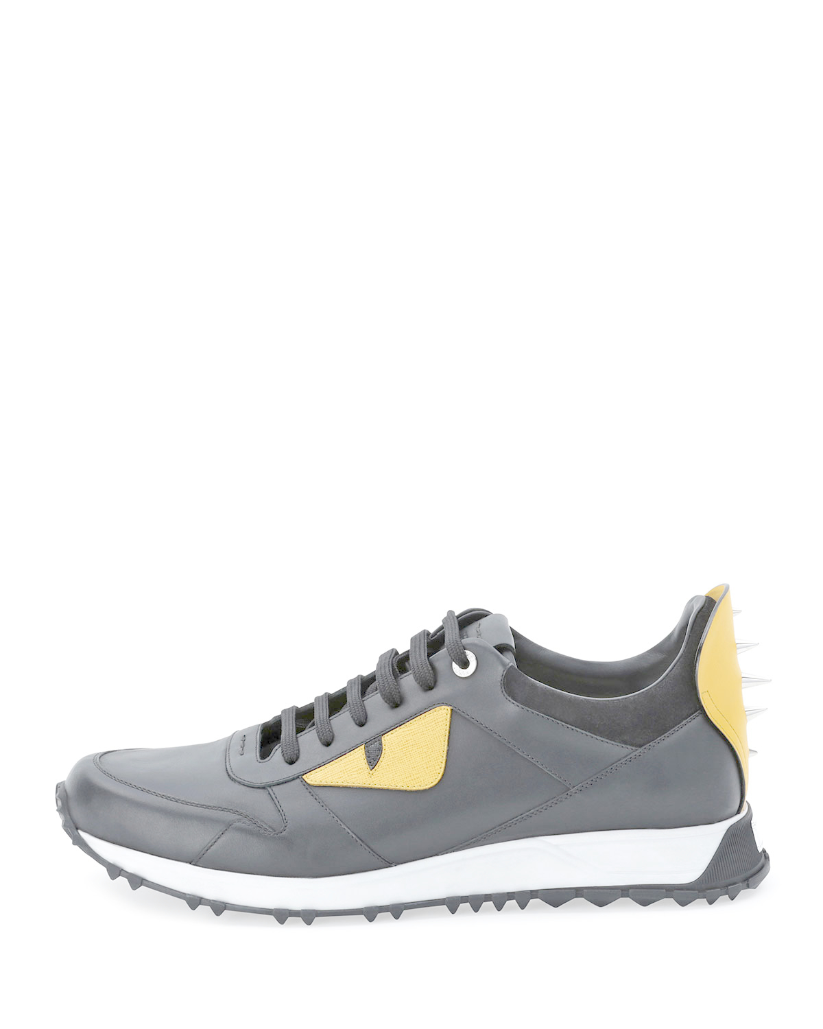 bd0949cd6da https   www.lyst.com shoes fendi-monster-runner-spike-back-leather ...