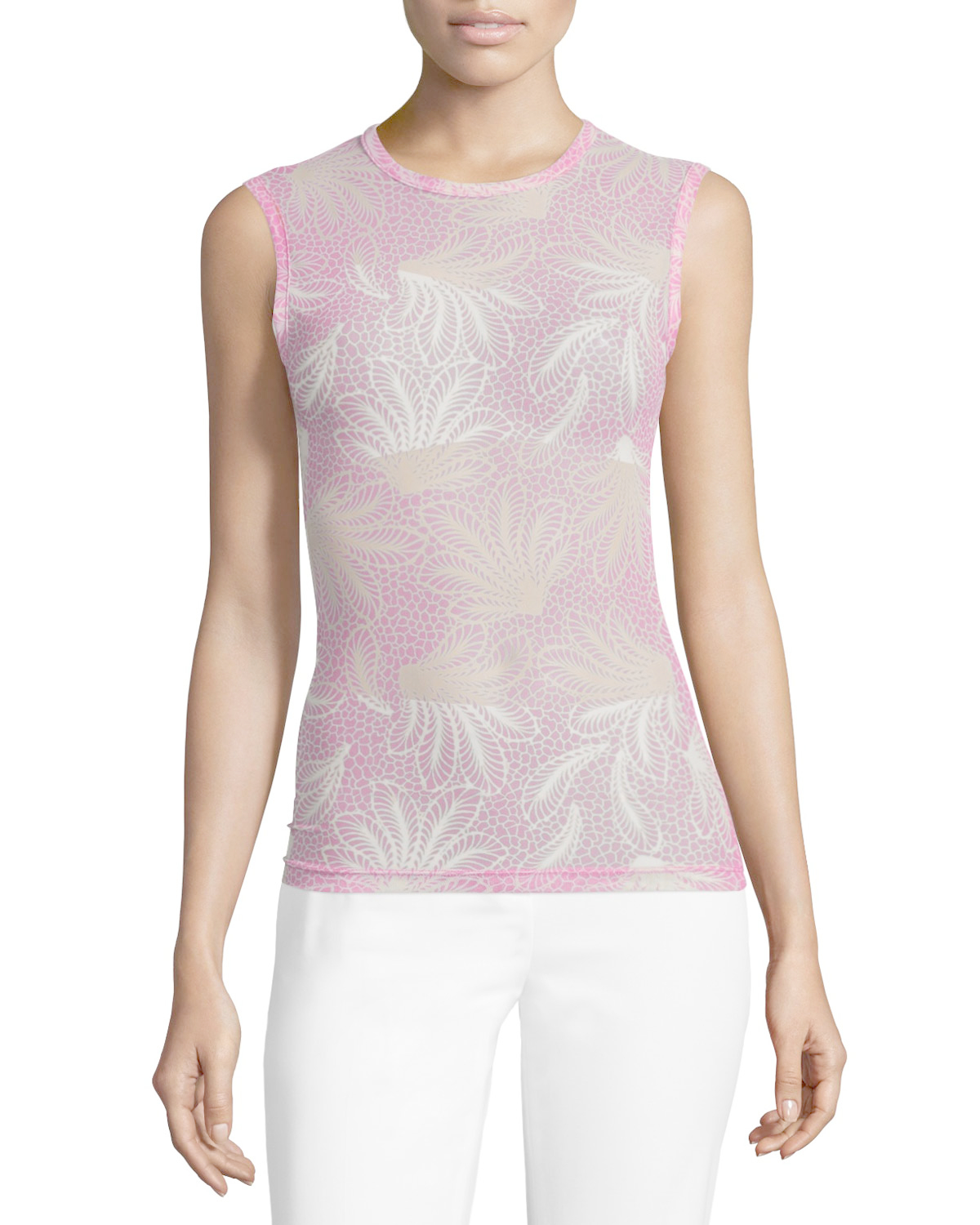 Lyst Dries Van Noten Haston Sleeveless Fern Print Tattoo