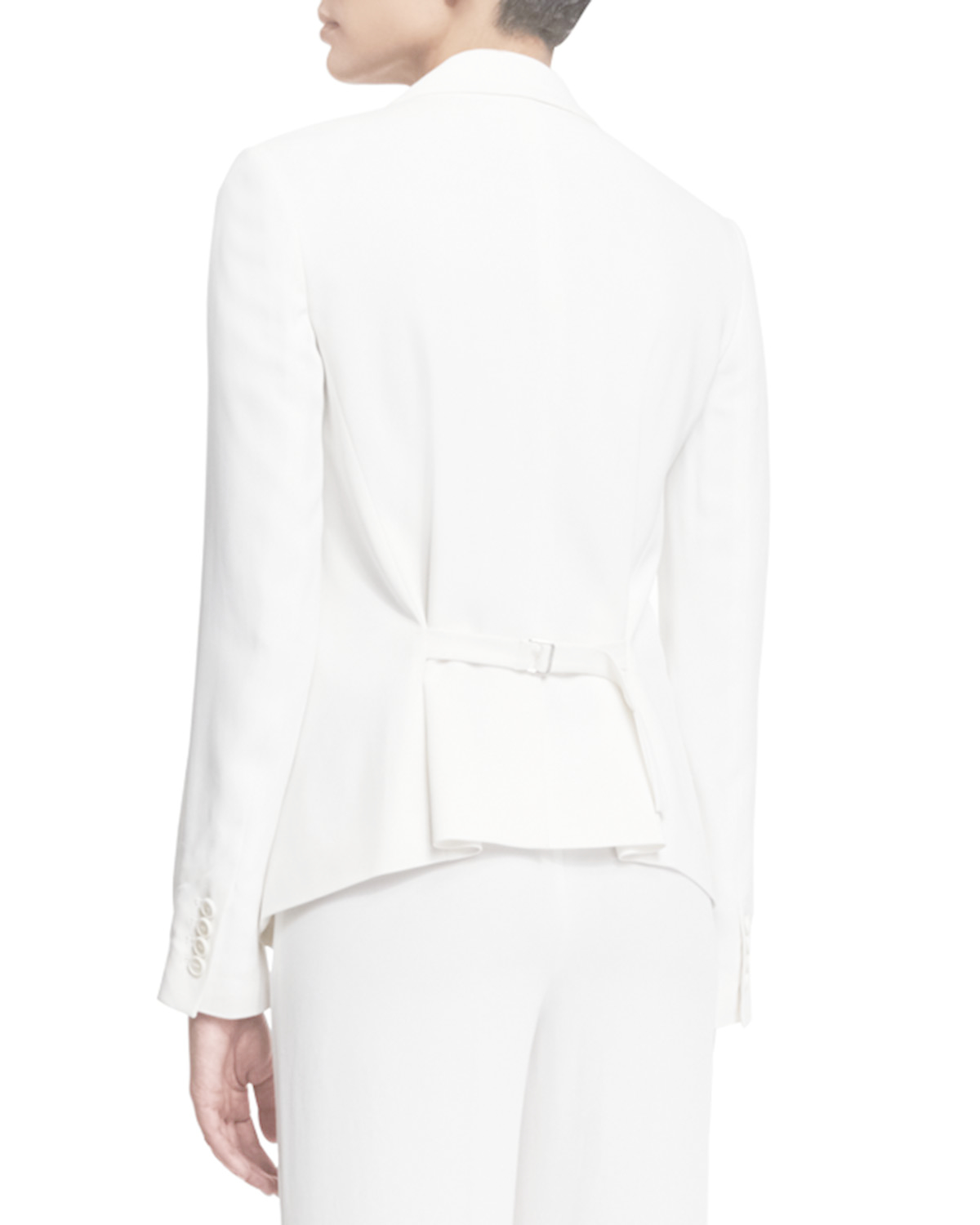 f53992e113b4 Theory Robiva Admiral Crepe Jacket in White - Lyst