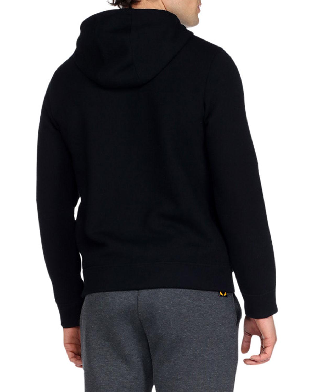 Lyst Fendi Monster Eyes Zip Up Hoodie In Black For Men