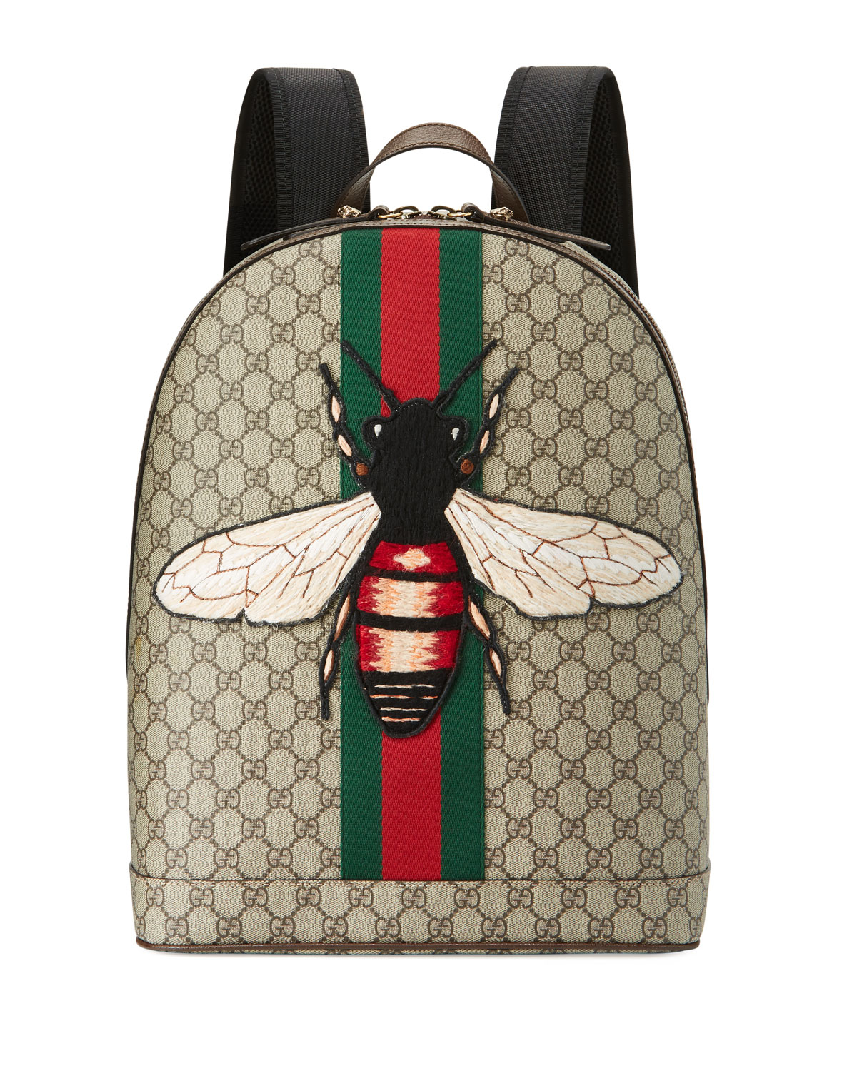 b69bbbf47312 Gucci Web Animalier Backpack With Bee for Men - Lyst