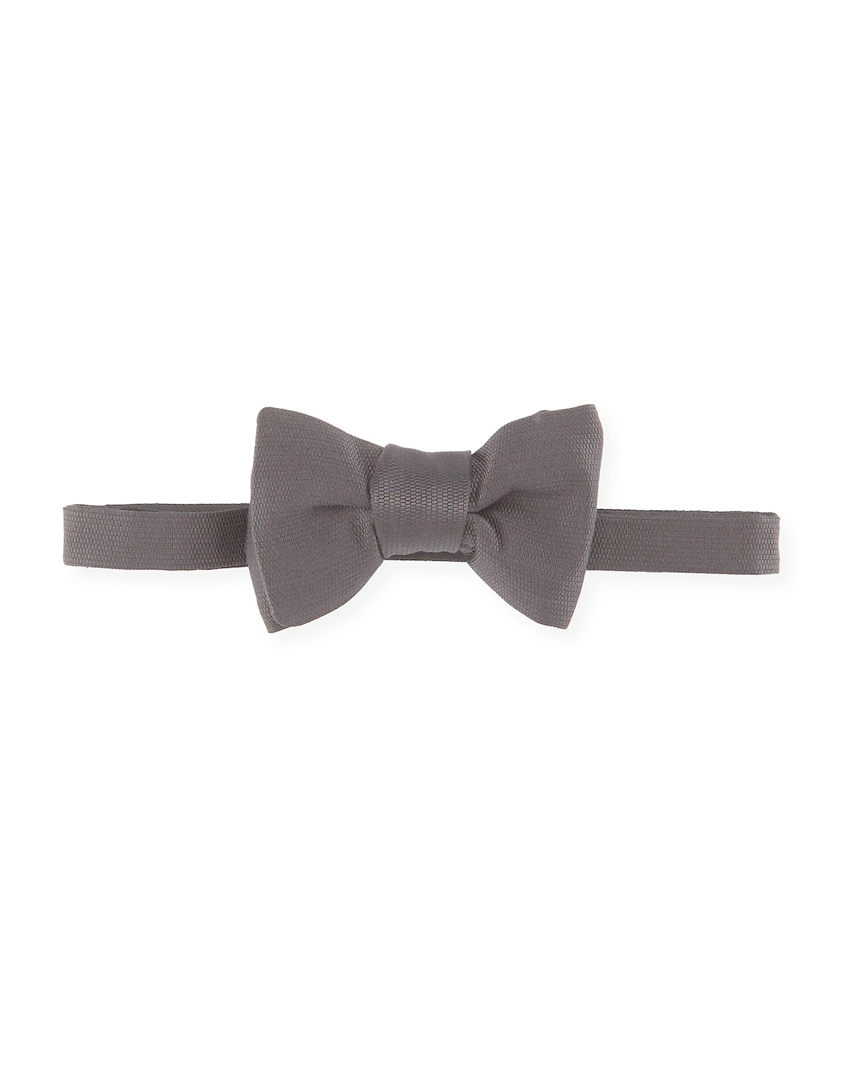 tom ford textured silk bow tie in black for lyst