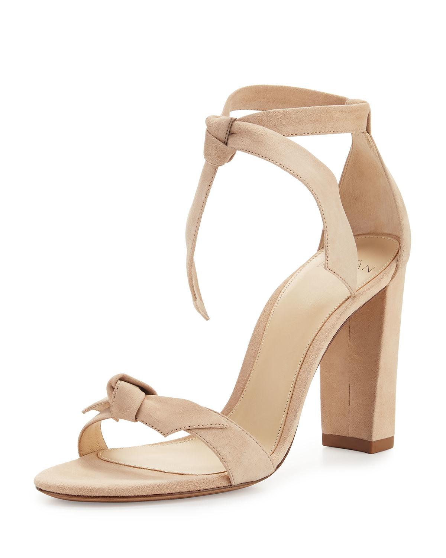 bd49cfa8b279 Alexandre Birman Bow Tie Detail Sandals in Natural - Lyst