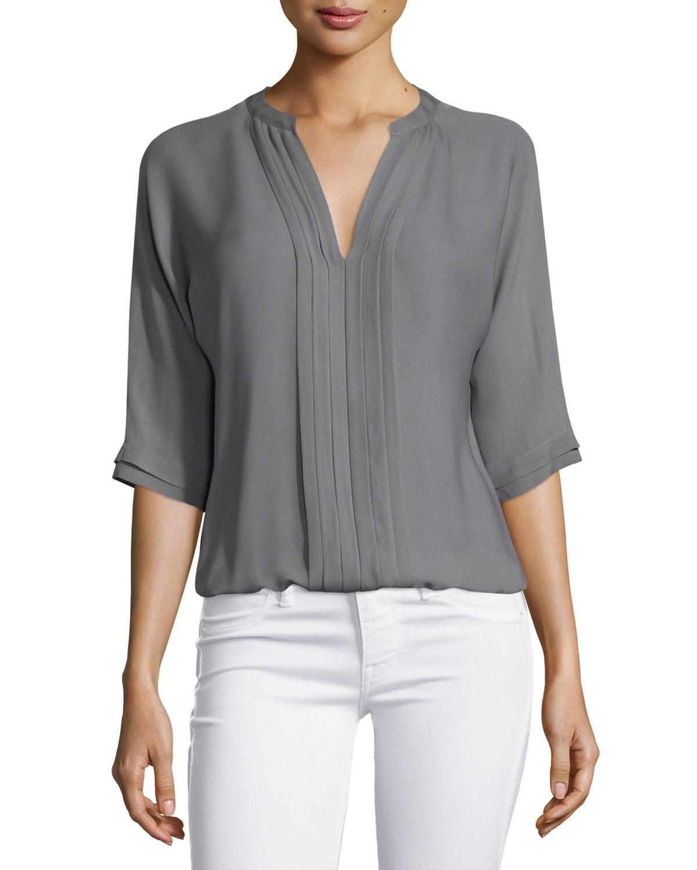 a0069e61469ad6 Lyst - Joie Marru 3 4-sleeve Silk Top in Gray