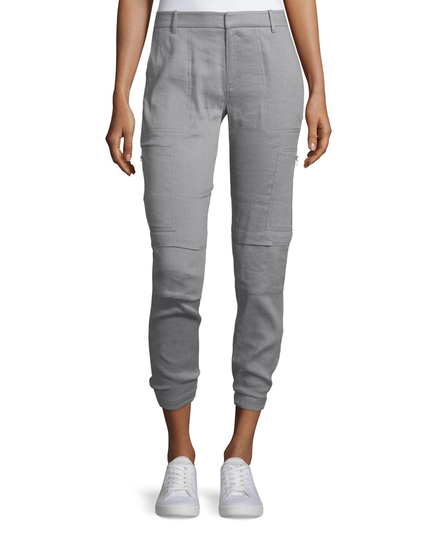7cdb492e2b96 Vince Linen-blend Cargo Pants in Gray