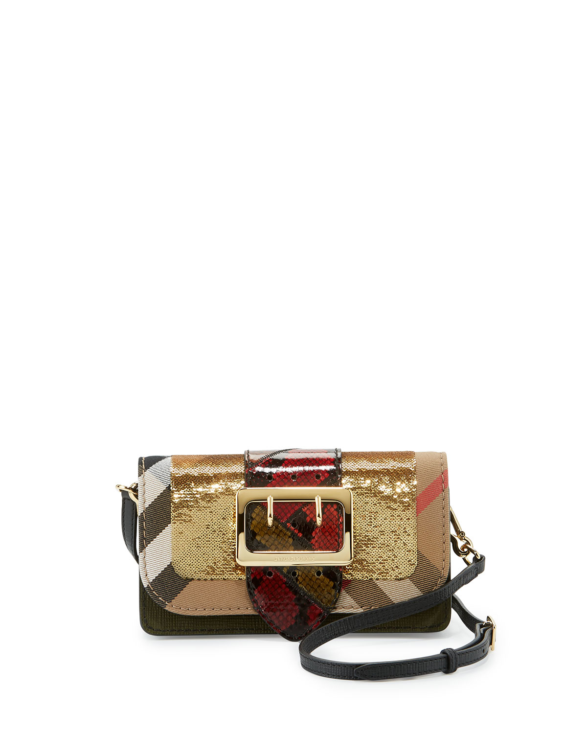 Lyst - Burberry Patchwork Sequined Check Canvas 578c96c9af6f9