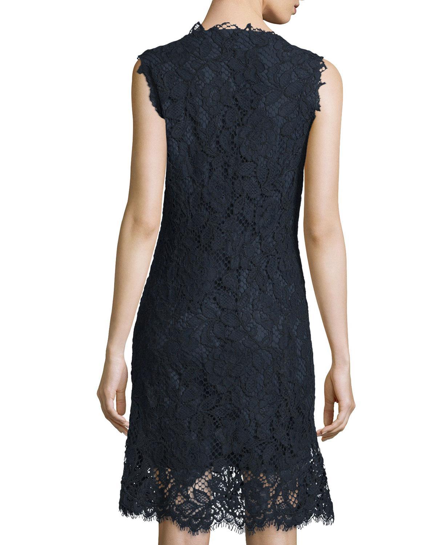 b1e1017f Lyst Tahari Tahari Lace lyst elie tahari harlow sleeveless lace dress in  blue