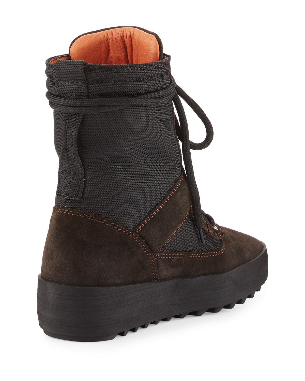300bb1b4d2e Yeezy Suede Platform Desert Boot in Gray for Men - Lyst