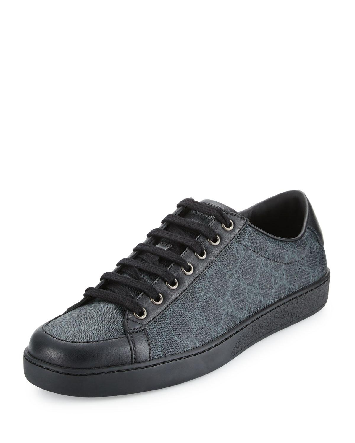 56b7941d838 Lyst - Gucci Brooklyn Gg Supreme Fabric Lace-up Sneaker in Black for Men