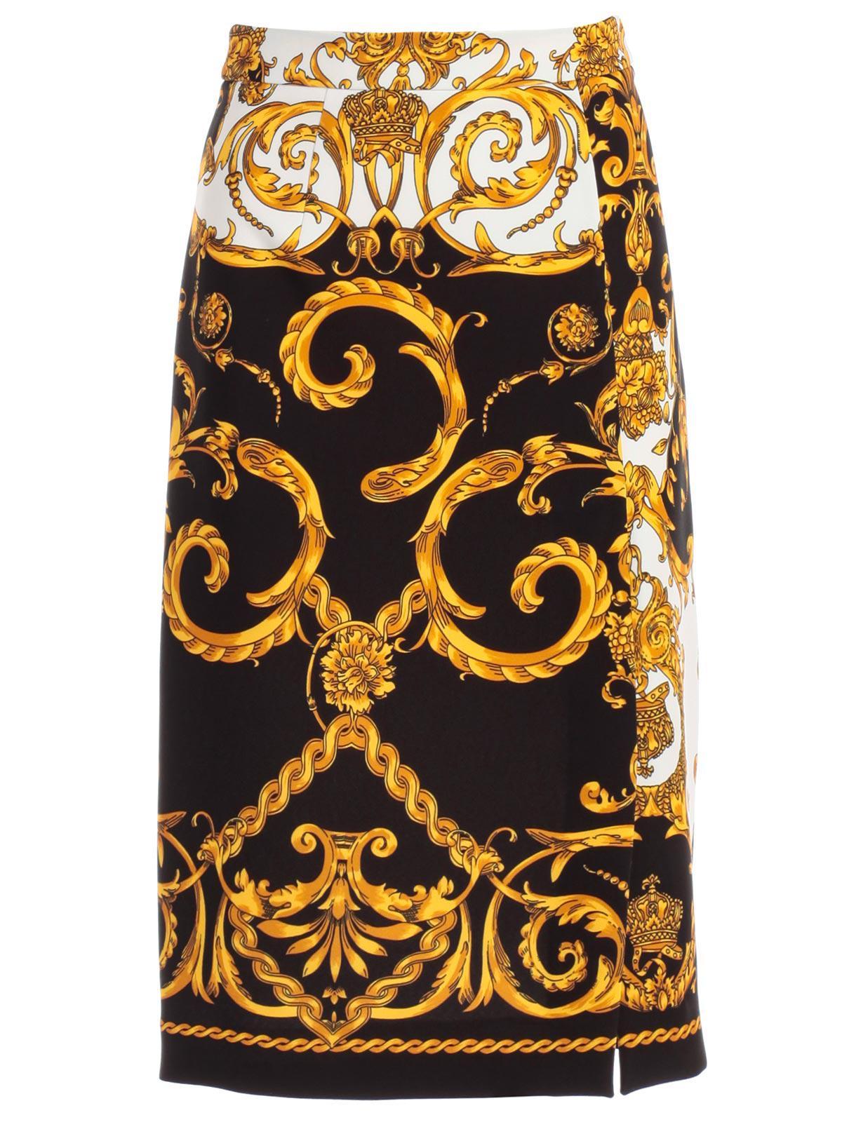 ffa81cfbc0 P.A.R.O.S.H. - Multicolor Skirt Pencil Printed Baroque - Lyst. View  fullscreen