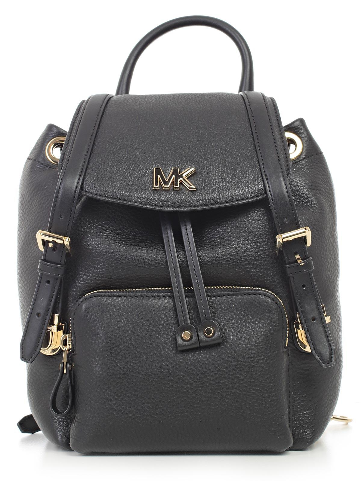 Mott Medium Backpack in Black Small Pebble Leather Michael Michael Kors 6Om3Xu