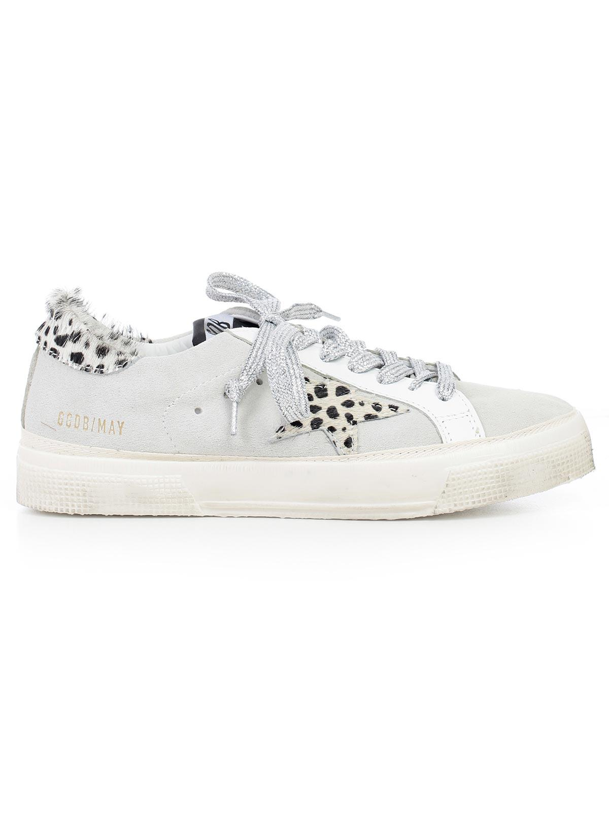 Golden Goose Suede Leopard May Sneakers ad2MTWN
