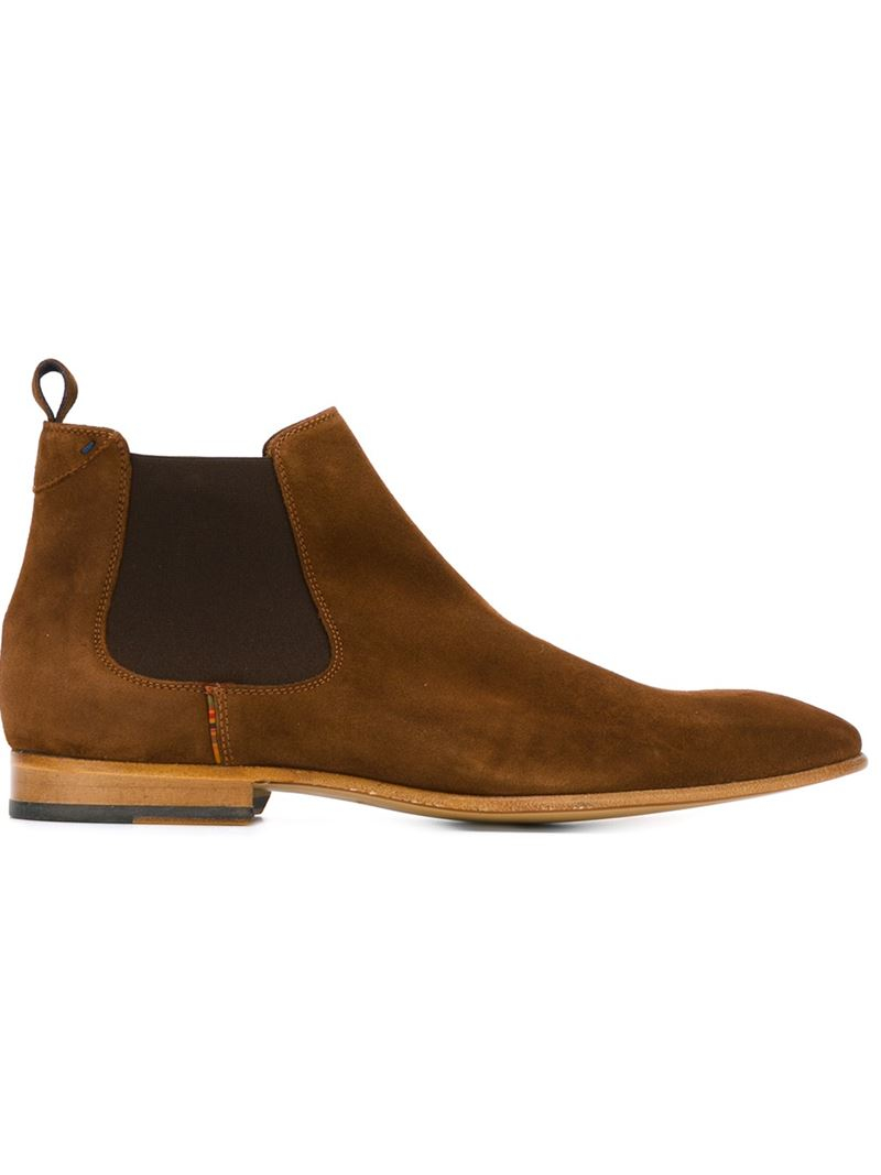 paul smith 39 falconer 39 chelsea boots in brown for men lyst. Black Bedroom Furniture Sets. Home Design Ideas