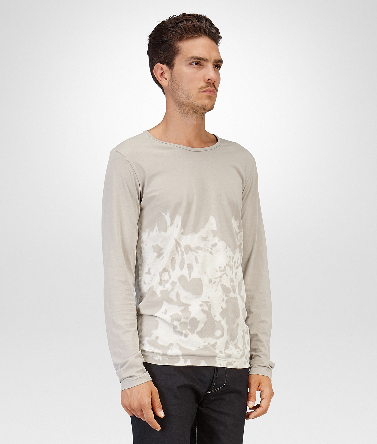 Lyst bottega veneta sand bleached organic cotton t shirt for Bottega veneta t shirt